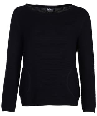 Women's Barbour International Aragan Knitted Sweater - Black