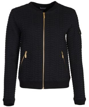 Women's Barbour International Aragan Sweater Jacket - Black