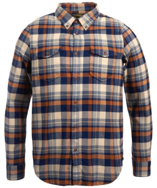 Men's Barbour Steve McQueen Cutter Check Shirt - Ecru Check