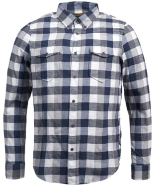 Men's Barbour Steve McQueen Miter Shirt - Grey Marl Check