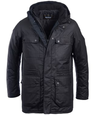Men's Barbour International Imboard Waxed Jacket - Black