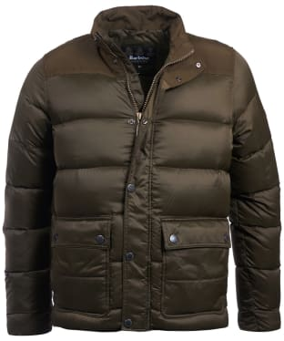 Men's Barbour International Tuck Quilted Jacket - Olive