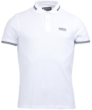 Men's Barbour International Essential Tipped Polo Shirt - White