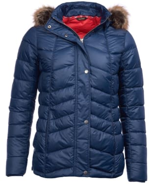 Women's Barbour Bernera Quilted Jacket - Navy
