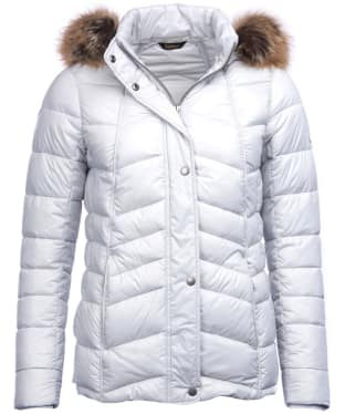 Women's Barbour Bernera Quilted Jacket - Ice White