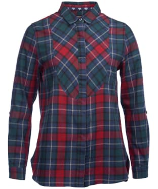 Women's Barbour Padstow Shirt - Chilli Red / Kelp