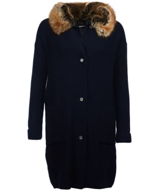 Women's Barbour Lomond Knitted Jacket - Navy
