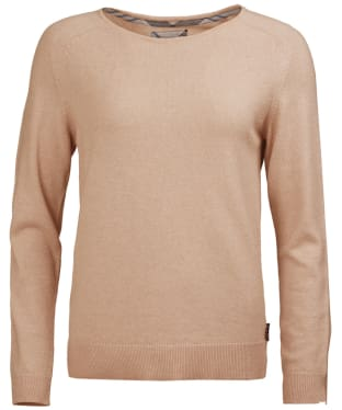 Women's Barbour Pendle Crew Neck Sweater - Camel