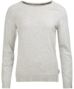 Women's Barbour Pendle Crew Neck Sweater - Pale Grey Marl