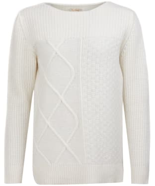 Women's Barbour Carlton Knitted Sweater - Off White