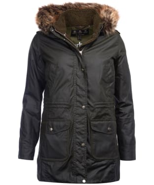 Women's Barbour Bridport Waxed Jacket - Fern