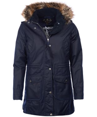 Women's Barbour Bridport Waxed Jacket - Royal Navy