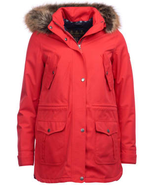 Women's Barbour Stronsay Waterproof Jacket - Reef Red