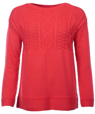 Women's Barbour Weymouth Knitted Sweater - Reef Red