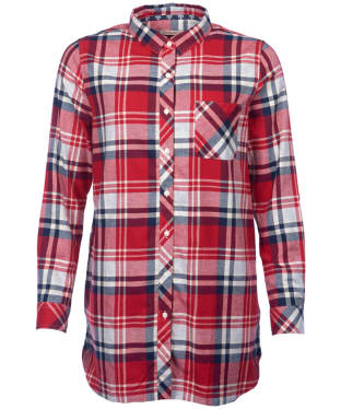 Women's Barbour Bressay Shirt - Grey / Chilli Red