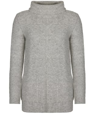 Women's Barbour Malvern Roll Collar Sweater - Light Grey Marl