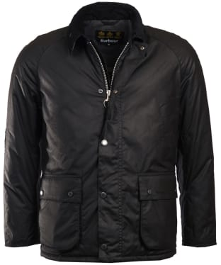 Men's Barbour Strathyre Waxed Jacket - Black