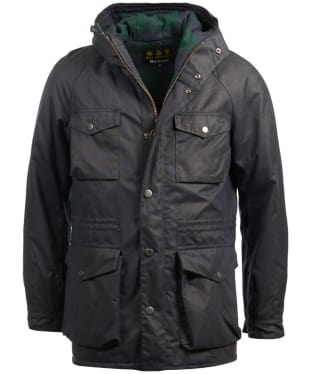 Men's Barbour Coll Waxed Jacket - Navy
