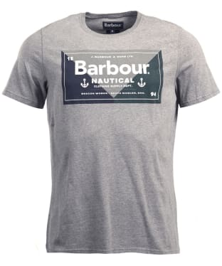 Men's Barbour Flag Tee - Dark Grey Marl