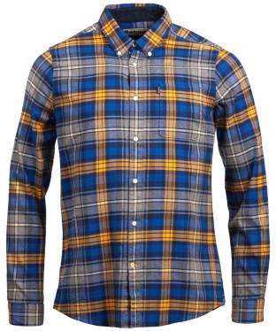 Men's Barbour Endsleigh Winter Weight Highland Check Shirt - Mustard
