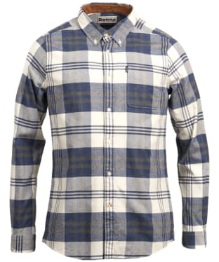 Men's Barbour Highland Check 16 Tailored Shirt - Blue Marl