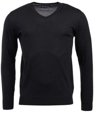 Men's Barbour Merino V Neck Sweater - Black