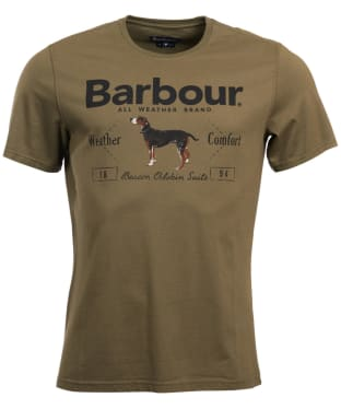 Men's Barbour Country Tee - Mid Olive