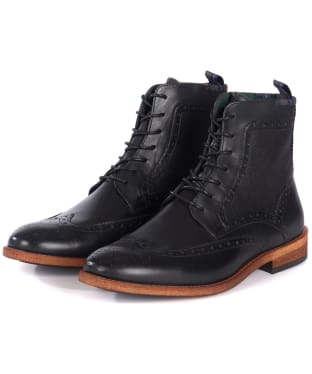 Men's Barbour Belford Brogue Boots - Black