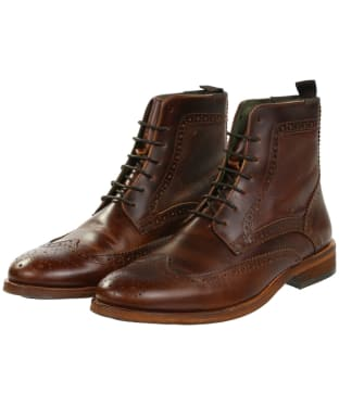 Men's Barbour Belford Brogue Boots - Mahogany