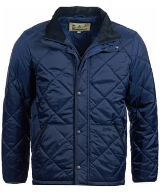 Men's Barbour Barron Quilted Jacket - Navy