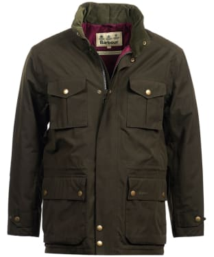 Men's Barbour Kelso Waterproof Jacket - Dark Olive