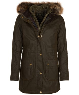 Women's Barbour Dartford Wax Jacket - Olive