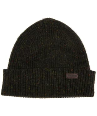 Men's Barbour Lowerfell Donegal Beanie Hat - Dark Green