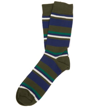 Men's Barbour Thurland Socks - Green / Navy
