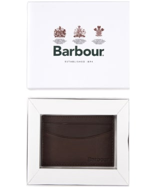 Men's Barbour Leather Cardholder - Dark Brown