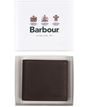 Men's Barbour Wallet and Coin Holder - Dark Brown