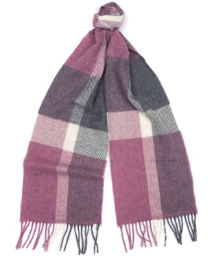 Women's Barbour Hamble Check Scarf - Lilac / Grey