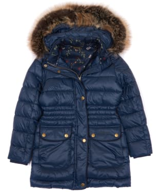 Girl's Barbour Redpole Quilted Jacket, 2-9yrs - Navy