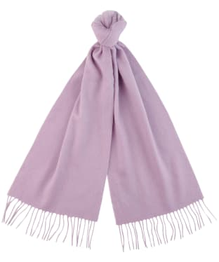 Women's Barbour Lambswool Woven Scarf - Lilac