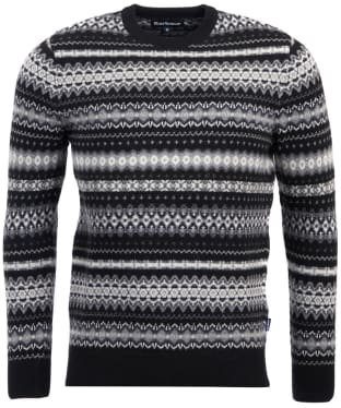 Men's Barbour Case Fairisle Crew Neck Jumper - Black