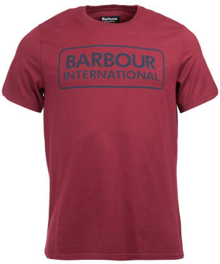 Men's Barbour International Essential Large Logo Tee - Port
