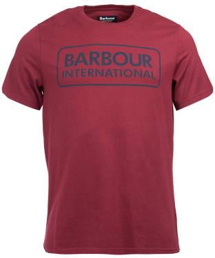 Men's Barbour International Essential Large Logo Tee - Port