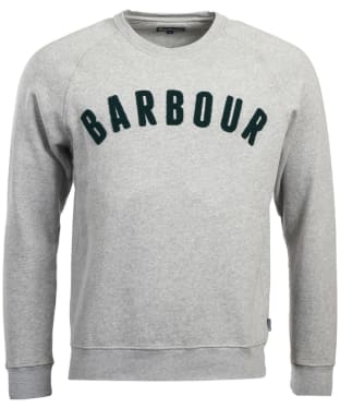 Men's Barbour Prep Logo Crew Sweater - Grey Marl