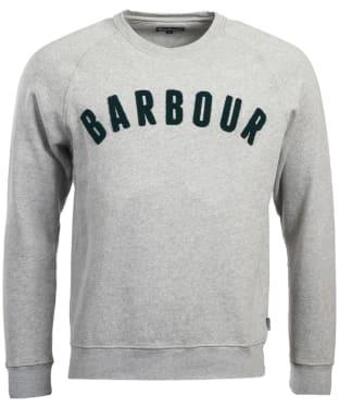 Men's Barbour Prep Logo Crew Neck Sweatshirt - Grey Marl