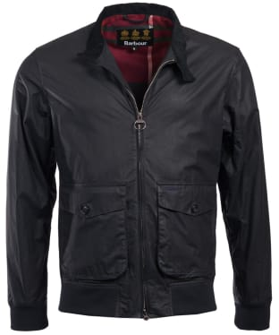 Men's Barbour Hagart Waxed Jacket - Navy
