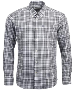 Men's Barbour Stapleton Highland Check Shirt - Grey Marl