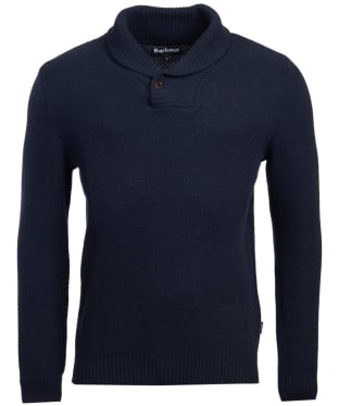 Men's Barbour Honeycomb Shawl Neck Sweater - Navy
