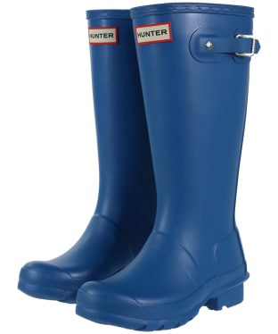 Hunter Original Kids Wellington Boots, 12-4 - Ocean Blue