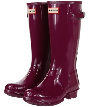 Hunter Original Kids Gloss Wellington Boots, 12-4 - Violet