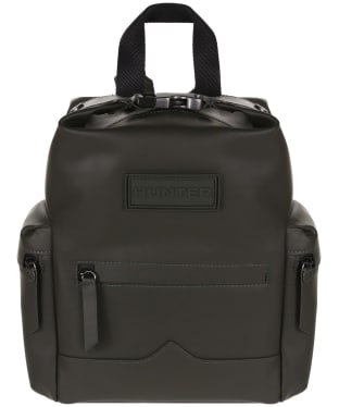 Hunter Original Mini Top Clip Backpack - Rubberised Leather - Dark Olive